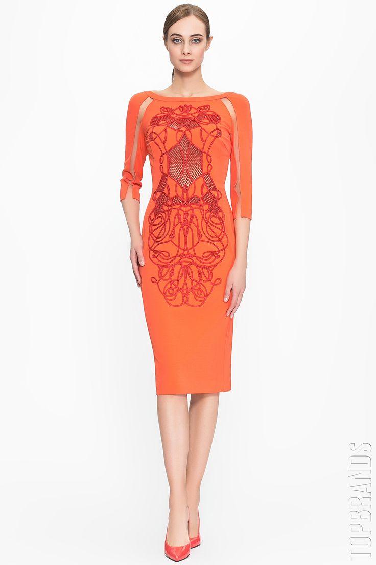 Оранжевое бандажное платье — http://fas.st/XTlzT