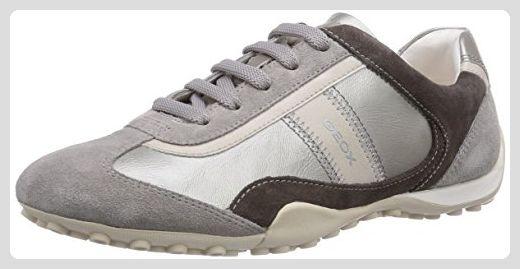 Geox D SNAKE B, Damen Sneakers, Weiß (OFF WHITE/LT GREYC0856), 36 EU - Sneakers für frauen (*Partner-Link)