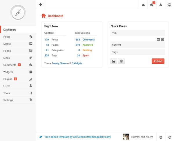 Clean Dashboard Interface Design - http://www.welovesolo.com/clean-dashboard-interface-design/