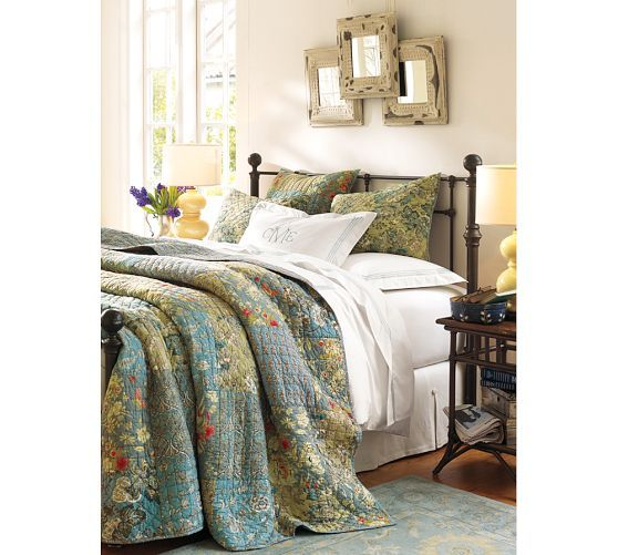 Quilt Ideas For Master Bedroom : Neena Patchwork Quilt & Sham Pottery Barn Home Pinterest Twin, Master bedrooms and Colors