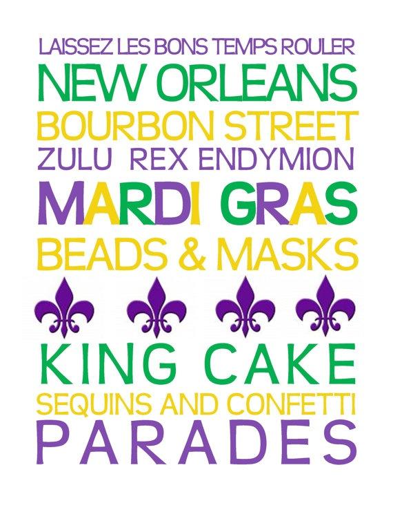 Mardi Gras printable