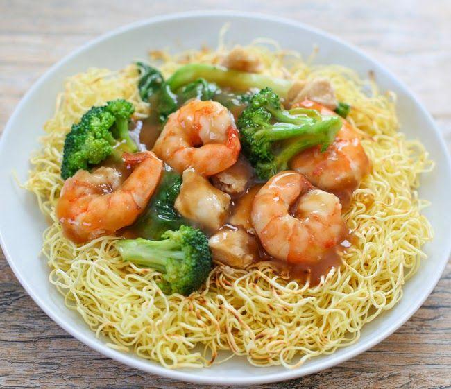 Crispy Pan Fried Noodles   Kirbie's Cravings   A San Diego food blog