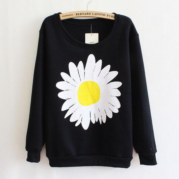 Big Flower Sweatshirt – Maries Boutique