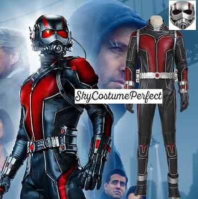 SALE & FREE SHIP new 2015 Movie Ant Man ANT-MAN Scott Lang costume Cosplay SET