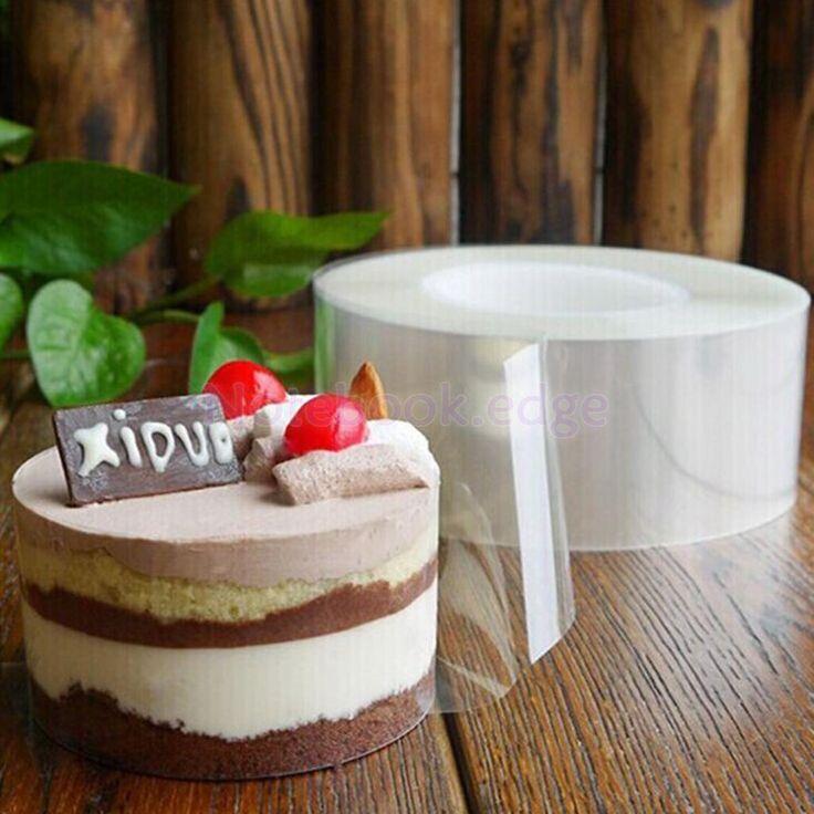 200M Clear Mousse Cake Membrane Baking Surrounding Edge Tape Cellophane Tape
