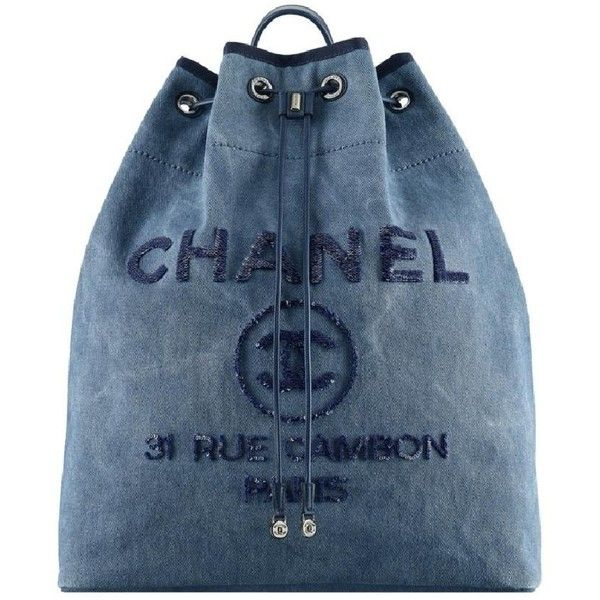 Chanel Navy Backpack Backpack Tradesy ($10) ❤ liked on Polyvore featuring bags, backpacks, backpack bags, chanel backpack, blue bag, chanel bags and daypack bag