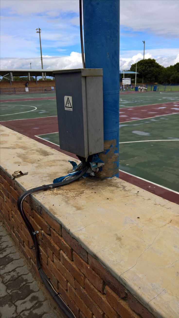 Ideal Bee removal in Johannesburg bees in a pole at a school http