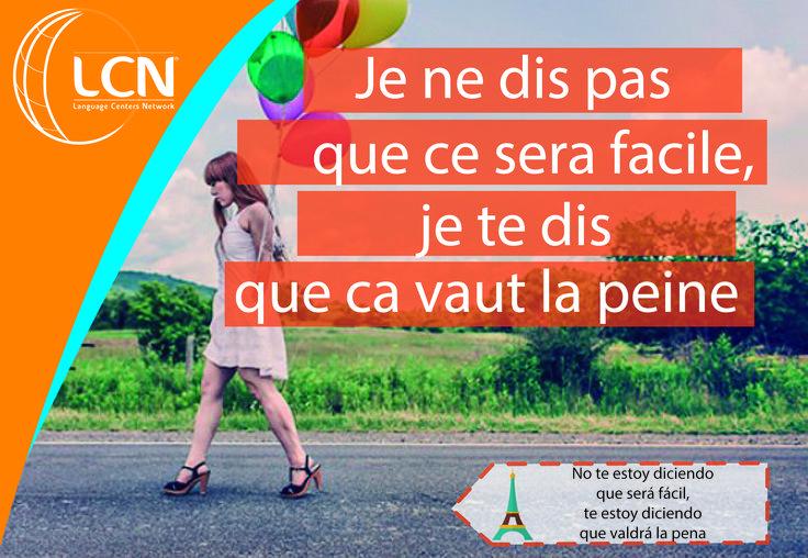 Frases de inspiración al estilo #LCNIDIOMAS #aprendefrances #escueladeidiomas #clasesfrancesmedellin