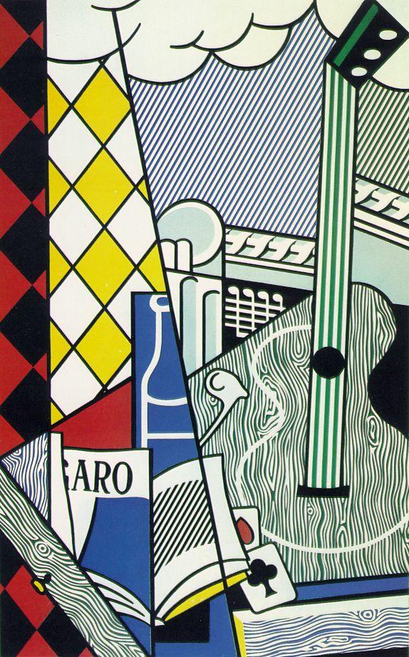Lichtenstein, Roy  Cubist Still Life with Playing Cards  1974
