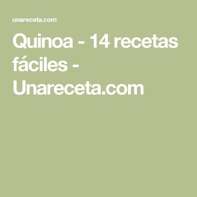 Quinoa - 14 recetas fáciles - Unareceta.com