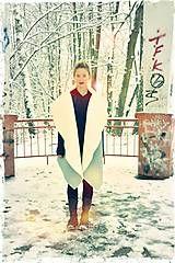Kabáty - PONCHO - VLNĚNÉ (SV. ŠEDÁ) - 5985578_