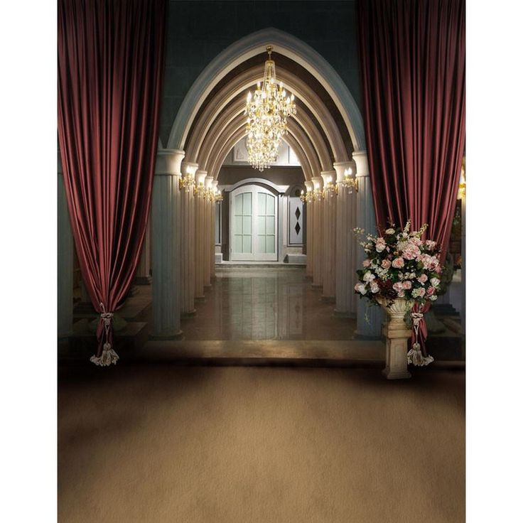 Wedding Backdrops The Church Background Flowers Backdrops S-2175