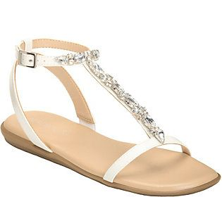 Aerosoles T-Strap Sandals - Chlearwater
