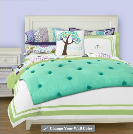 A bed set i designed on pottery barn teen dream home - Pottery barn bedroom furniture sets ...