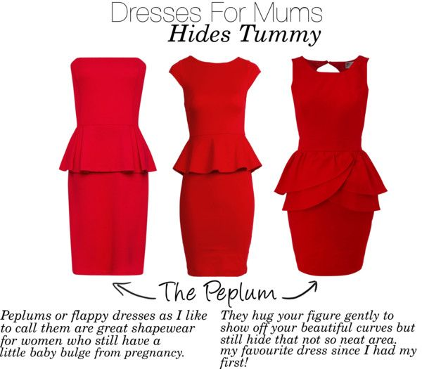 Dresses that hide tummy's