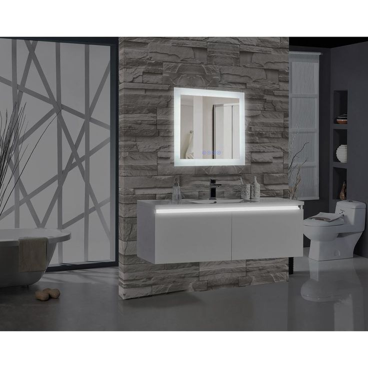 MTD Vanities Encore BLU103 24 in. W x 27 in. H Rectangular LED Illuminated Bathroom Mirror with Bluetooth Audio Speakers