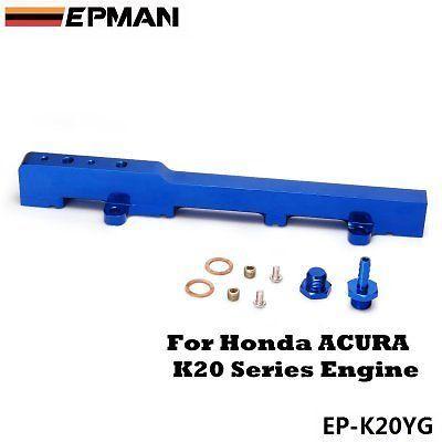 EPMAN High Flow Fuel Rail For Honda type r K20 series, + fuel pressure regulator