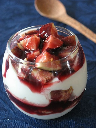 Goat Cheese ad Fig cake with Fig Mascarpoe Verrine by tartelette, via Flickr