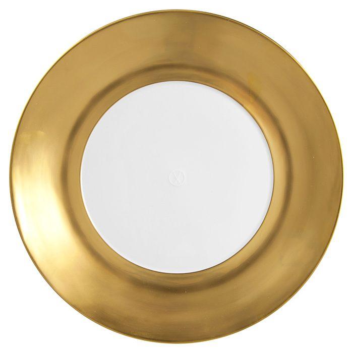 """Dinner plate, Shape """"MEISSEN® COSMOPOLITAN"""", Gold, Ø 30 cm"""