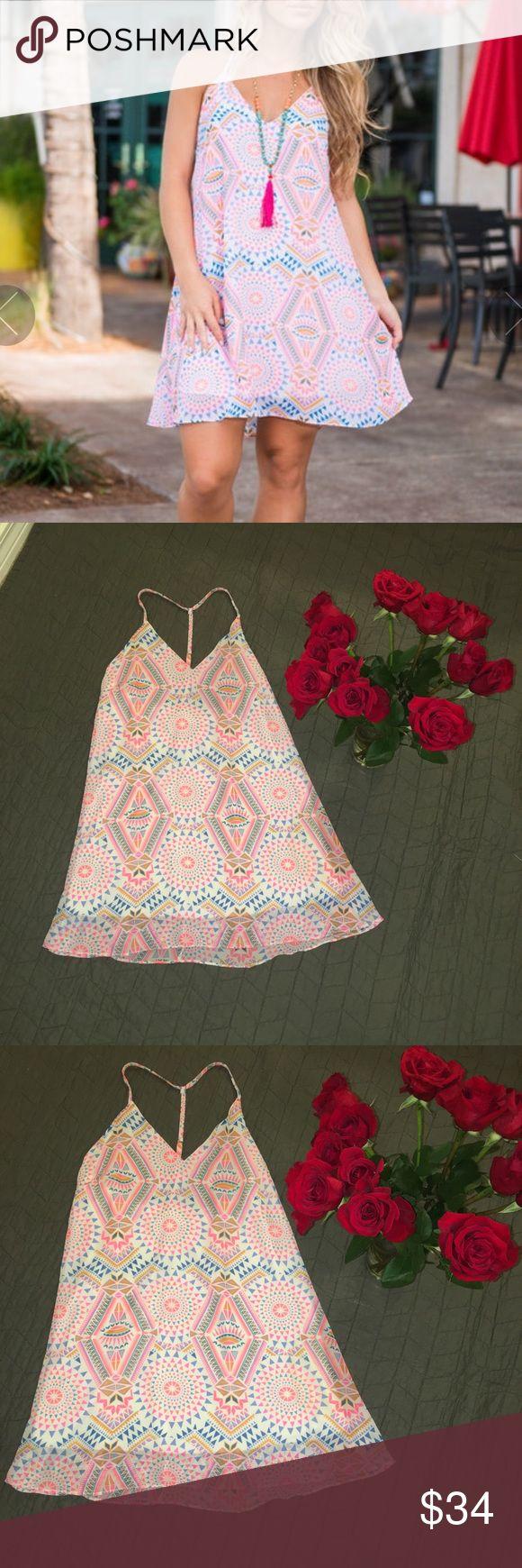 New Mint Julep Boutique Small Aztec print dress NWOT mint Julep Boutique size small Aztec print dress Mint Juelp Boutique Dresses Mini