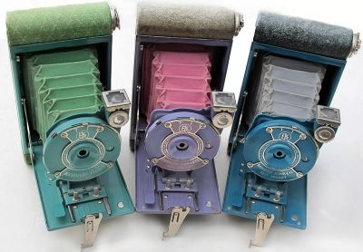 Kodak Petite & Rainbow Hawkeye vest Pocket camera
