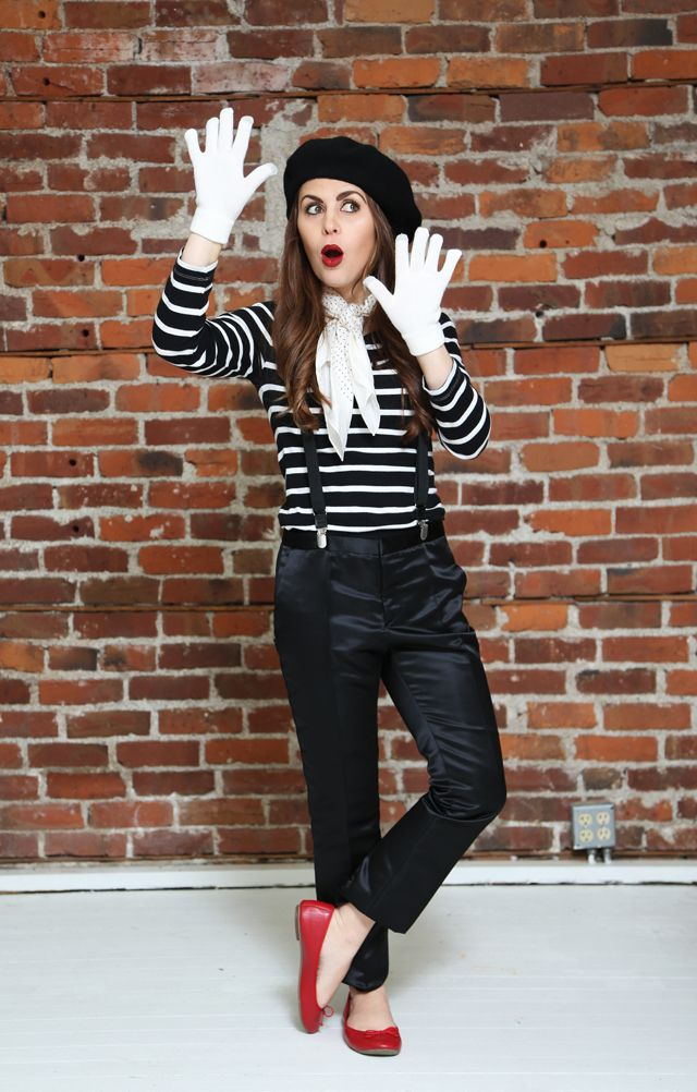15 halloween costumes made from what you already have in the closet - Mime For Halloween