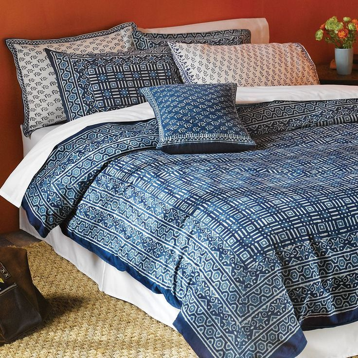 Hand Block-printed Indigo Bedding