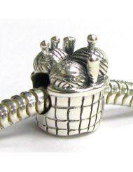 Sterling Silver Knitting Wool Needle Basket Bead For Pandora European Charm Bracelets - $24.98 www.jewelryandwatches.co.za