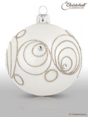 Christbaumkugeln Ornament.Solitario Christbaumkugeln Weiss 6er Christoball Ornaments Ii