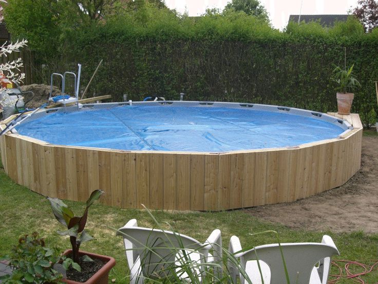 Intex frame pool in erde einlassen ideas for the house for Garten pool intex