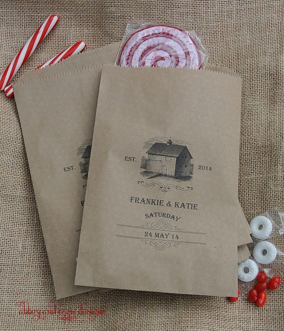 Country Wedding Favors, Candy Buffet Bags, Barn Wedding Favors,  by abbey and izzie designs
