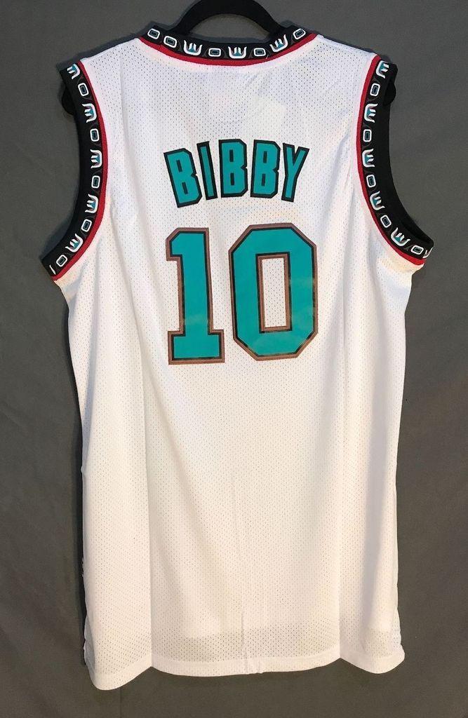 a0c5f6d7eb84 Men 10 Mike Bibby Jersey White Vancouver Grizzlies Jersey Swingman ...