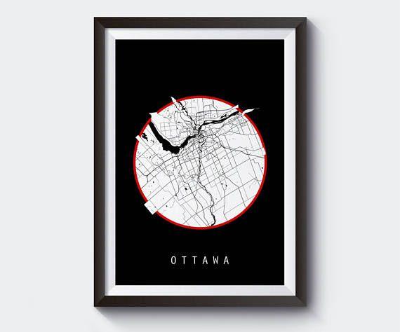The 25 best ottawa map ideas on pinterest ottawa tattoo wall ottawa map canada map world map maps black and white map gumiabroncs Gallery