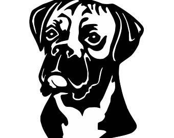 Pin By Wanda Dunn On Cricut Boxer Dogs Dogs Dog Silhouette