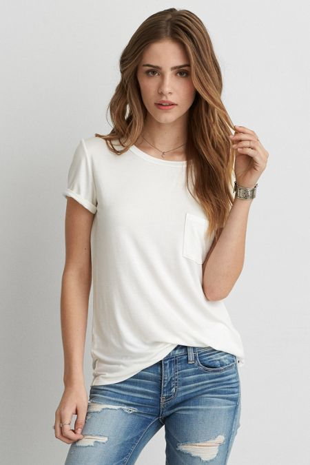 American Eagle Outfitters AEO Soft & Sexy Pocket T-Shirt | AMERICAN EAGLE saved by #ShoppingIS