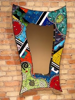 mosaic mirror- Im working on my own DIY that I wish would turn out half as good as this