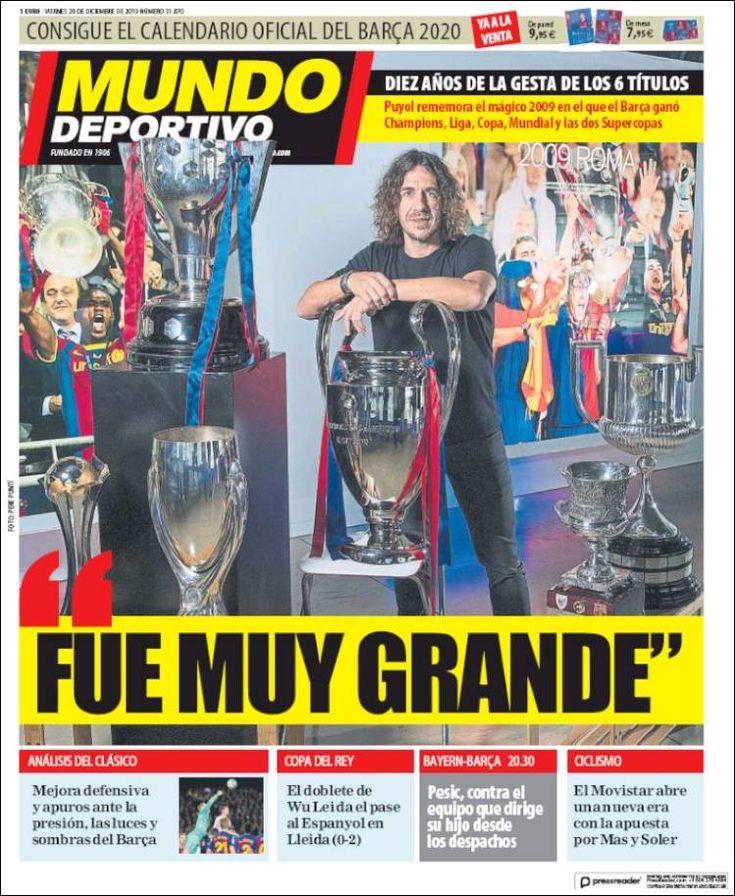 20191220 Periódico El Mundo Deportivo (España