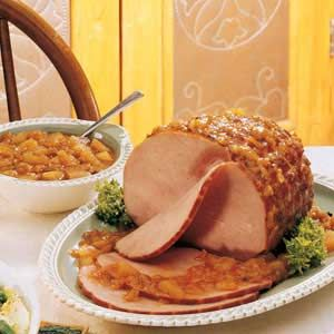 Ham with Peach Chutney Recipe -
