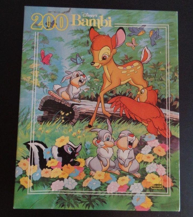 Disney Vintage Bambi Jigsaw Puzzle 200 Pieces New Golden