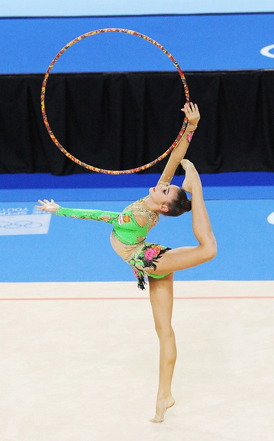 Rhythmic hoop #gymnastics :)