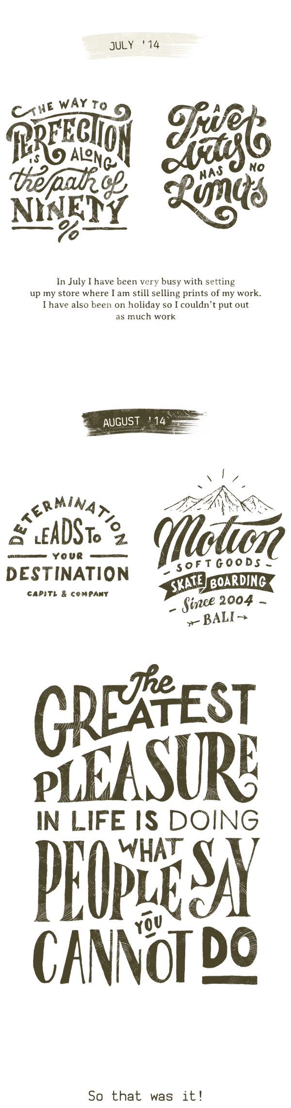 Typography Collection 2014 on Behance