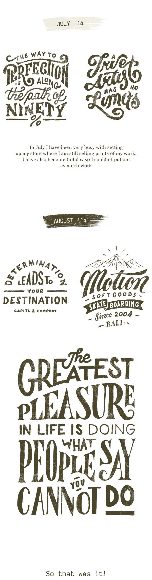 Typography Collection 2014 by Mark van Leeuwen, via Behance