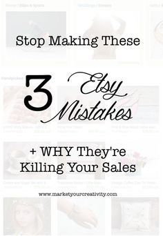 I love selling on Etsy, and I coach many creative colleagues to open shop there as well. However, it's all too often that I find my clients repeating thesecommon mistakes, and it's killing their s...