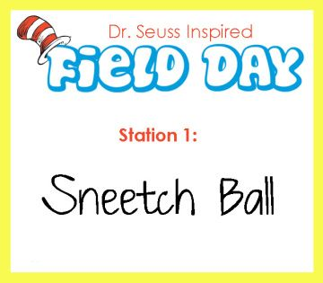 Dr. Seuss Field Day ideas