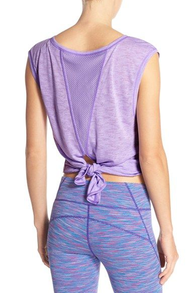 SMALL, BLACK Zella 'Luna' Convertible Tie Tee available at #Nordstrom