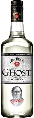 "Jacob's Ghost new from Jim Beam A ""White Whiskey"" not a moonshine or Un-aged White dog, aged for at least a year in white oak barrels it can be enjoyed as a bourbon or as a mixer."