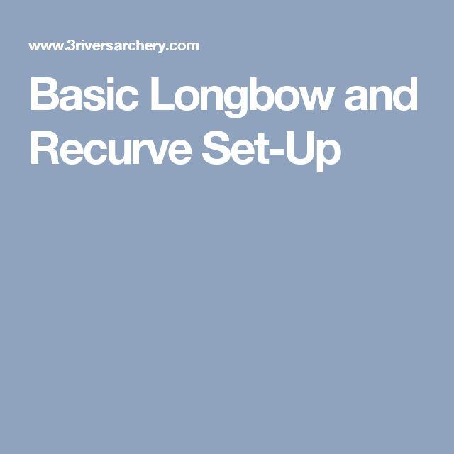 Basic Longbow and Recurve Set-Up