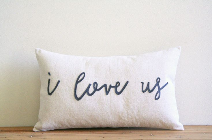 "I love us decorative pillow cover  / 12"" x 20""  / typography / valentine gift / natural / urban farmhouse industrial / rustic / wedding gift by SassyStitchesbyLori on Etsy https://www.etsy.com/listing/220175386/i-love-us-decorative-pillow-cover-12-x"