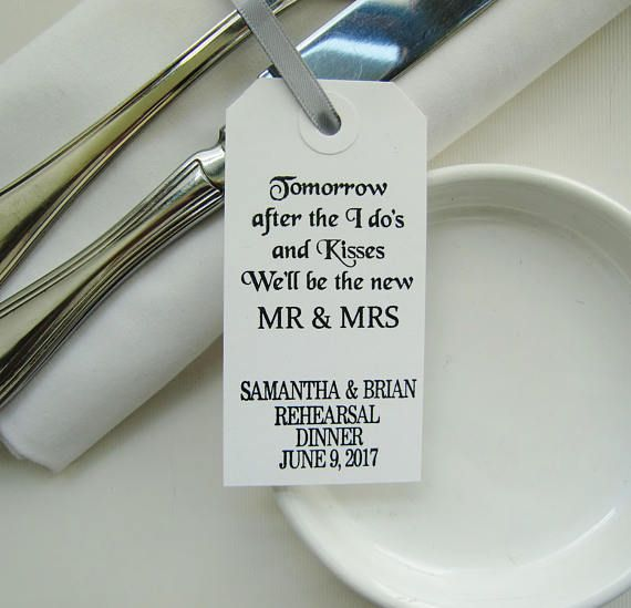 Wedding Rehearsal Table Decor-Rehearsal Dinner Favors-Tomorrow