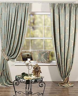 Комплект штор «Лувр-КП» зеленого цвета